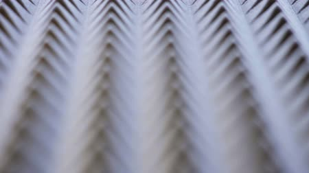 acoustical : Macro of acoustic foam panel background, sliding video, shallow depth of field, textured motion background