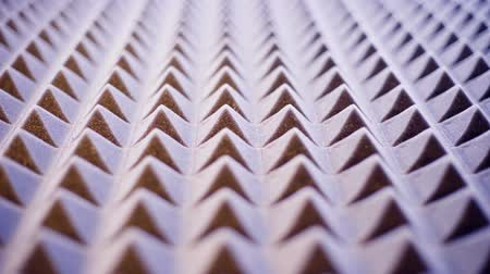 izolace : Tonned sliding video of acoustic foam panel background