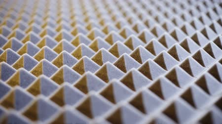 абсорбент : Macro of acoustic foam panel background, flyover, shallow depth of field