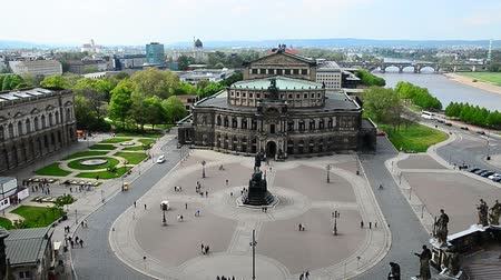 johann : view to the Semperoper in Dresden. The place calls Theatre Square. In the middle the statue of king Johann
