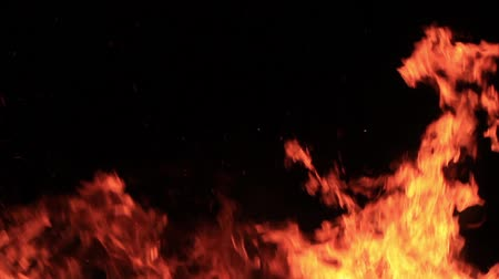 inflammable : rapid and intermittent flame burning in the night Stock Footage
