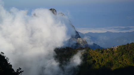 Landscape of white clouds over mountain on top Doi Luang Chiang Dao Chiang mai, northern Thailand.