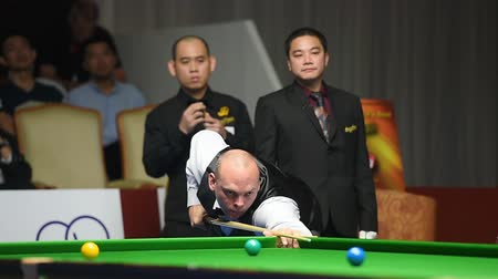 six worlds : Bangkok, Thailand - SEP 3:Stuart Bingham of England of Thailand participates in a Sangsom Six-red World Championship 2014 at Montien Riverside Hotel on September 3, 2014 in Bangkok, Thailand.