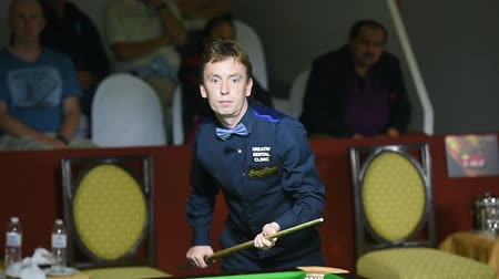 six worlds : Bangkok, Thailand - SEP 4:Ken Doherty of Ireland in action during Sangsom Six-red World Championship 2014 at Montien Riverside Hotel on September 4, 2014 in Bangkok, Thailand.