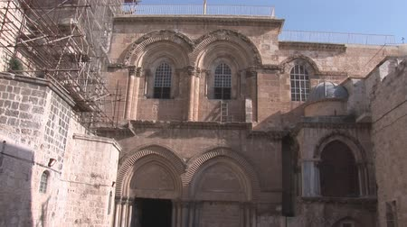 kudüs : Holy Sepulcher in Jerusalem Stok Video