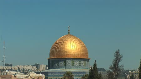 купол : Jerusalem - Dome of the Rock Стоковые видеозаписи