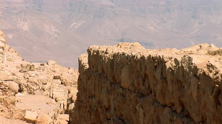 israele : Pareti Masada (antica fortezza alla costa sud-occidentale del Mar Morto in Israele)
