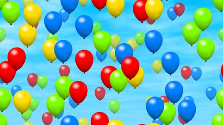 jubileum : Party ballonnen gegenereerd naadloze loop video Stockvideo
