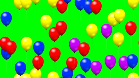 transparente : Party balloons generated seamless loop video green screen