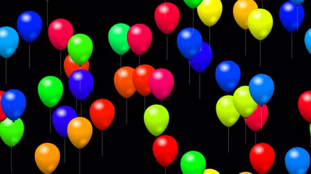 canal : Party balloons generated seamless loop video with alpha channel