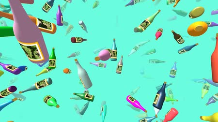 thrash : Flying bottles generated 3D video