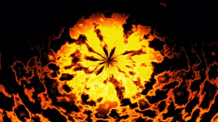 neverending : Burning fire generated seamless loop video Stock Footage
