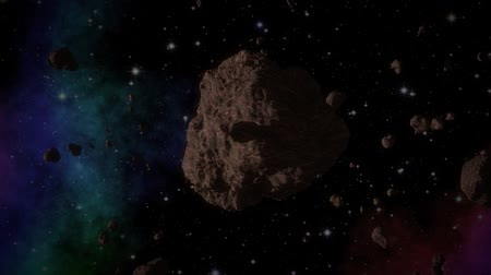 meteorite : Asteroid in space generated video