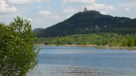 wavelet : Lake with castle Stock Footage