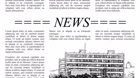subtítulo : Scrolling newspaper with Lorem Ipsum text, seamless loop video 4k UHD