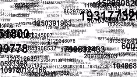 espaço de texto : Random numbers data flow seamless loop Stock Footage