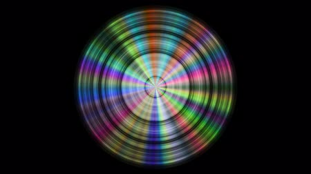 compact disc : Metal disc with color reflections, seamless loop