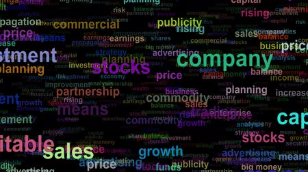 propagação : Business concept words moving IN, seamless loop