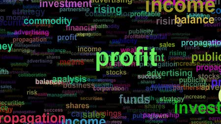 prosperita : Business concept words moving LEFT, seamless loop