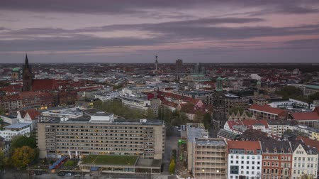 hanover : Hannover cityscape at evening. Timelapse.