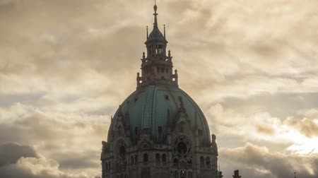 hanover : The dome of the New Town Hall in Hannover with a fantastic view of the city Stock Footage
