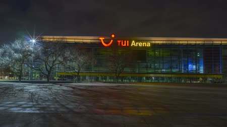 hanover : Hannover, Germany - October 28, 2017: TUI Arena on Expo Plaza in Hannover at evening