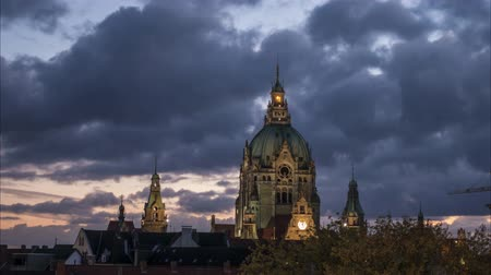 Hannover skyline at evening 影像素材