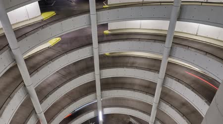 Multi-storey car park in Germany. Time lapse.