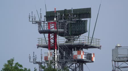 немецкий : Wunstorf, Germany - June 09, 2018: Bundeswehr Open Day on air base Wunstorf. Radar station