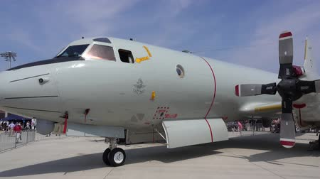 Wunstorf, Germany - June 09, 2018: Bundeswehr Open Day on air base Wunstorf. The Lockheed P-3 Orion is a four-engine turboprop anti-submarine and maritime surveillance aircraft