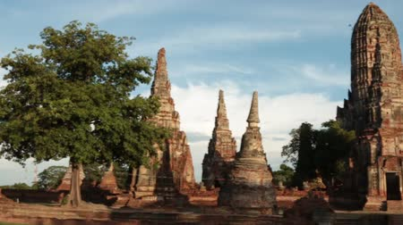 древний : wat chaiwattanaram one of world heritage site ancient temple of ayutthaya in thailand