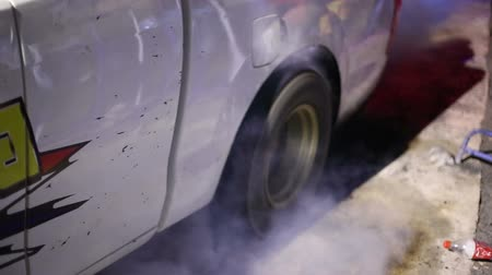 pneus : burn of Tyre Stock Footage