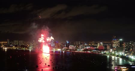 firework display : Pattaya International Fireworks Festival 2018