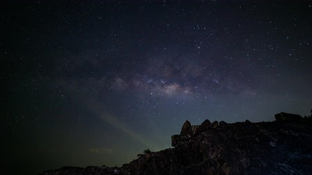 bab : Time lapse of milky way galaxy.