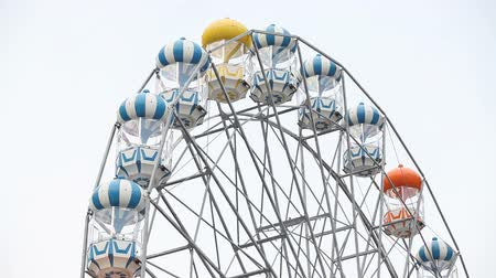 tekerlekler : Vintage Retro Ferris Wheel  Stok Video