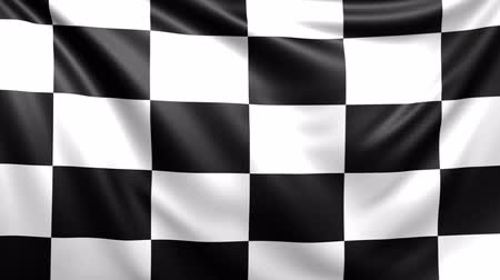 işlenmiş : Checkered race flag. Seamless looped video background, footage
