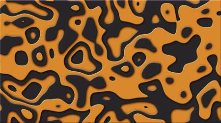 сканер : Morphing of a shape similar to a liquid layered topographic map. Seamless loop fractal form background.