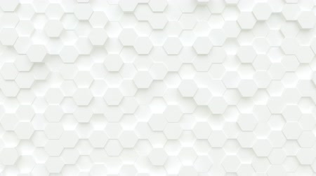 extrude : Abstract loop background from moving hexagons, seamless loop animation Stock Footage