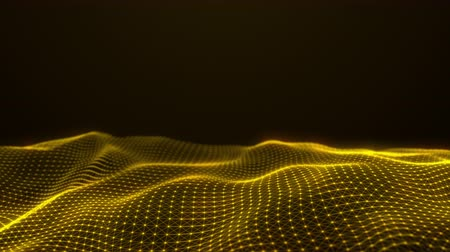 yumuşaklık : Abstract flowing smooth Plexus fractal waves background. Grid, mesh of dots and lines. Water like seamless loop animation