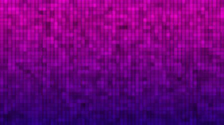 reflektör : Abstract Glitter Squares. Motion Vj loop backdrop from mesh of rectangles Stok Video