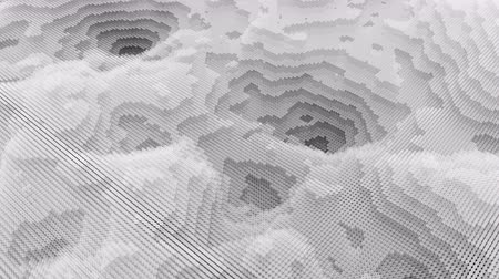 contorno : Fractal background from layered animated circles. Topographic map, terrain like abstract backdrop Stock Footage