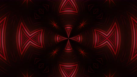 トライバル : Abstract tribal looping animated background. Seamless symmetric kaleidoscope backdrop from hypnotic rays. VJ style Flowing ornament footage.