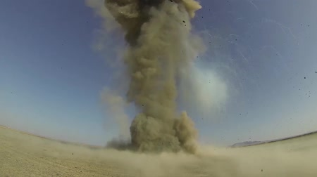 explosion by air force-explosive ordinance disposal technicians
