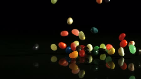 dragee : falling jellybeans Stock Footage