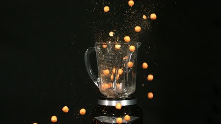 lots of : slow motion blender cheese balls