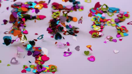 legyintés : confetti blows away Stock mozgókép
