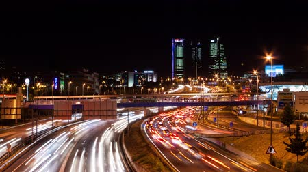 brake : Time-lapse City Lights Stock Footage