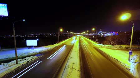 timelapse reverse movement of cars on the highway