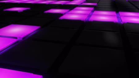 teatr : Pink and Blue Disco nightclub dance floor LED dancing wall glowing light grid dancefloor musical background vj seamless loop club animation Wideo