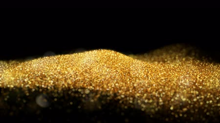 esplendor : Shiny flowing wave golden glitter seamless VJ loop abstract particle background